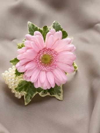 Pale Pink Germini Wrist Corsage