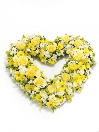 Open Heart Yellow & White