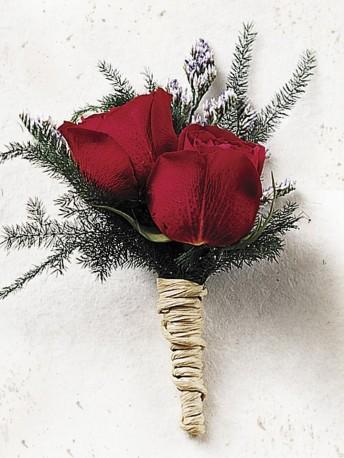 Scarlet Rose Buttonhole