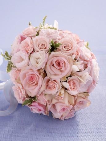 Soft Pink Rose & Orchid Bridal Bouquet