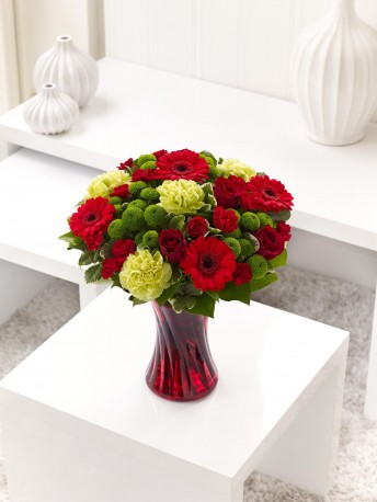Colour Your Day with Love Vase