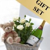 Celebratory Baby Boy Gift Basket