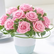 Classic Chic Pink Rose Arrangement