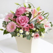 Pink Exquisite Arrangement with Chocolates