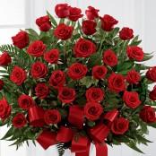 Red Rose Service Arrangement