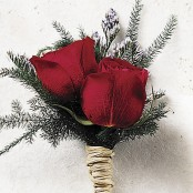 Scarlet Rose Buttonhole