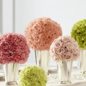 Floral Spheres Centrepiece