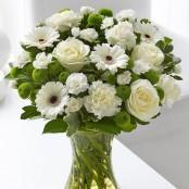 White Sympathy Vase