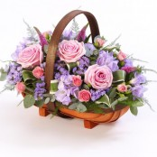 Mixed Basket - Pink and Lilac