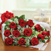 Red Rose and Gyp presentation Bouquet